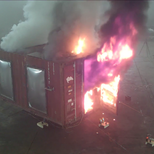Lithium Ion Storage and Firefighting